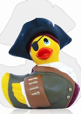 Mini Canard de bain vibrant Pirate